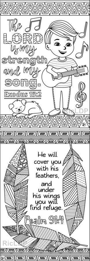 Set of 8 Coloring Scripture Cards (Set 2) - Cute Doodles ...