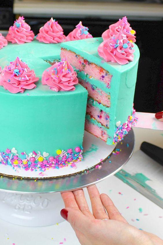 Photo of Funfetti Kuchen Rezept: Einfaches Rezept von Grund auf neu gemacht – Chelsweets  C A K E – A R T #cake – Cake