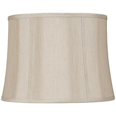Taupe Softback Round Lamp Shade 14x16x12x12 Spider 97184 Lamps Plus Round Lamp Round Lamp Shade Lamp Shade