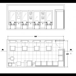 Barber shop design dwg layout | Architectural CAD blocks | Pinterest ...