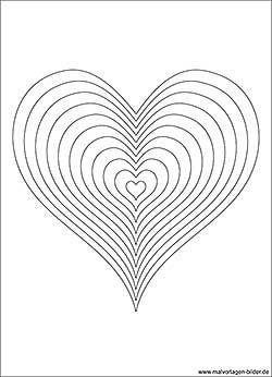 Herzen Malvorlage fr Erwachsene und Kinder  coloring 4