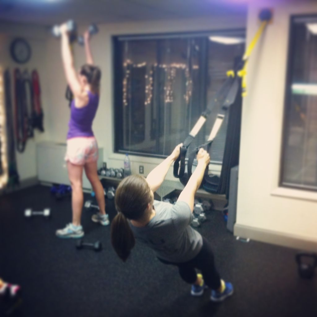 crashing the women and weights class at Jaime Andrews Fitness in Logan Circle
