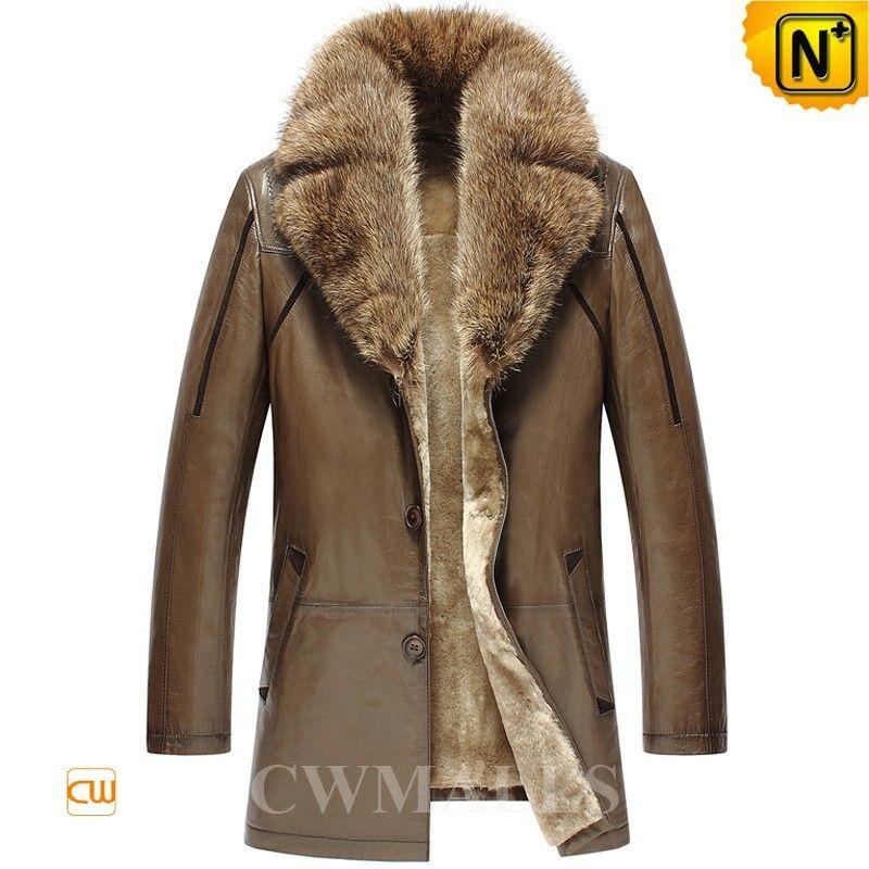 CWMALLS® Custom Fur Shearling Trench Coat CW858037 - Custom made ...