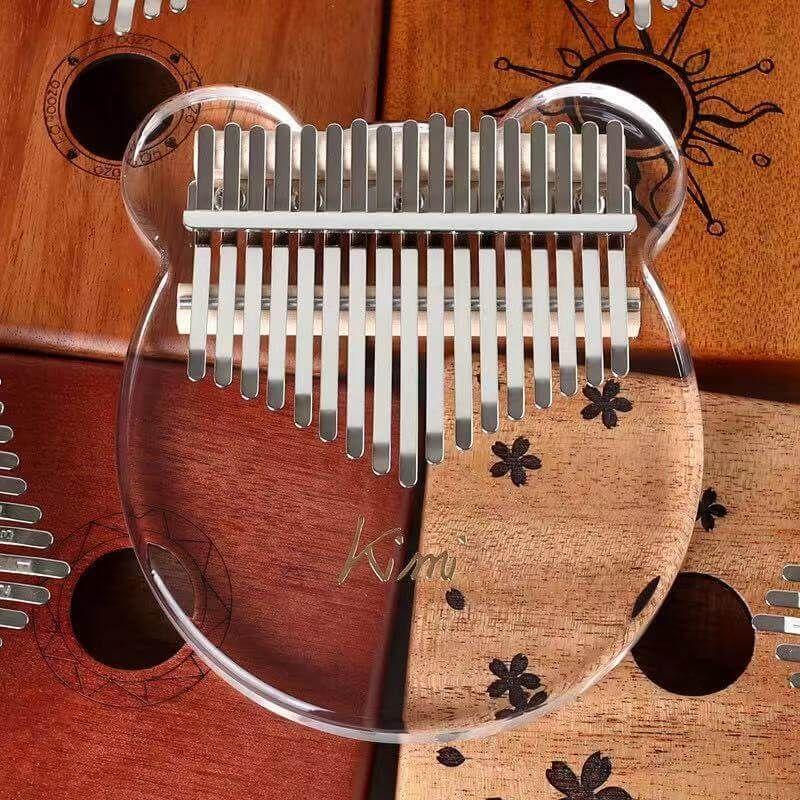 Acrylic kalimba bear 17 keys thumb piano instruments