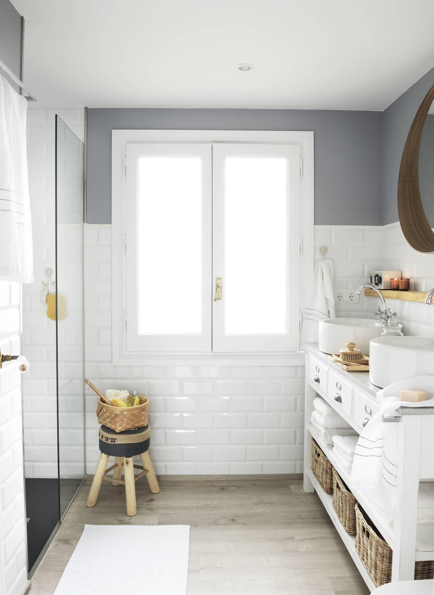 36 Sacar Luz A Un Rustico Banos Azulejos Blancos Como Decorar
