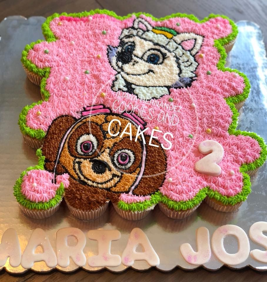 Pull Apart Cupcakes Cake Paw Patrol Everest Skye With Images