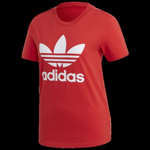 adidas Originals Adicolor Trefoil T Shirt Lush Red White
