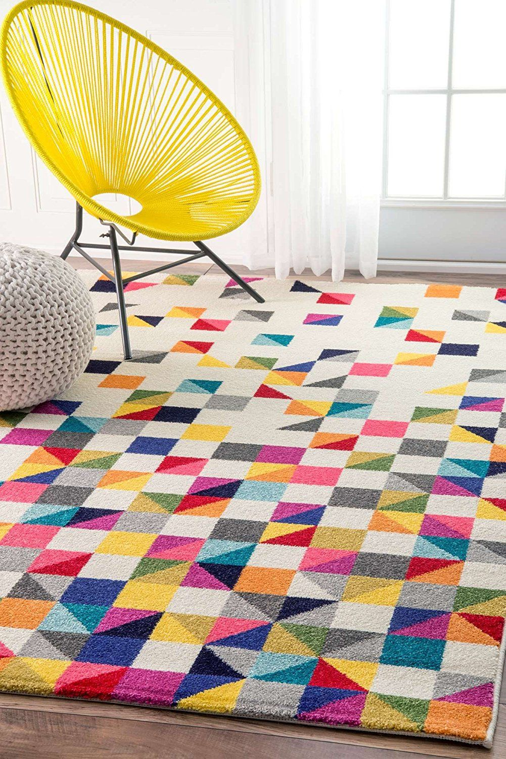 Amazon.com: Modern Rug Colorful Multi Mosaic Design Rugs Living Room ...