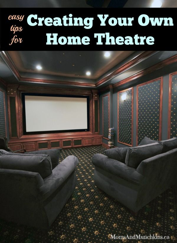 Home Theatre Ideas Budget Friendly Moms Munchkins Small