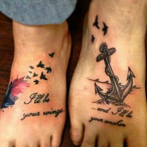 wings anchor tattoo tatuagens pinterest tattoo ideen. Black Bedroom Furniture Sets. Home Design Ideas
