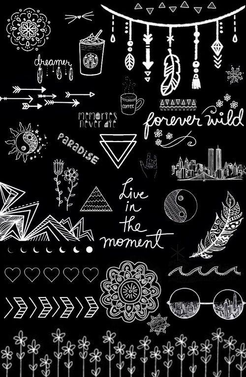 Kartinka S Tegom Wallpaper And Black And White Risunki Melom Neonovye Znaki Nadpisi Melom