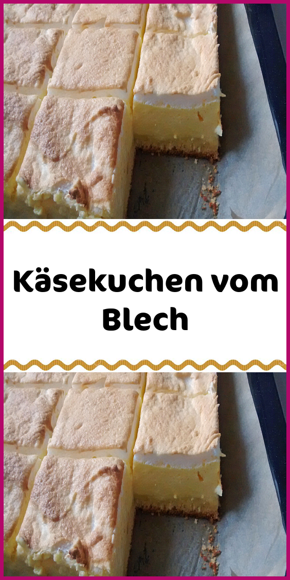Käsekuchen vom Blech #süßesbacken