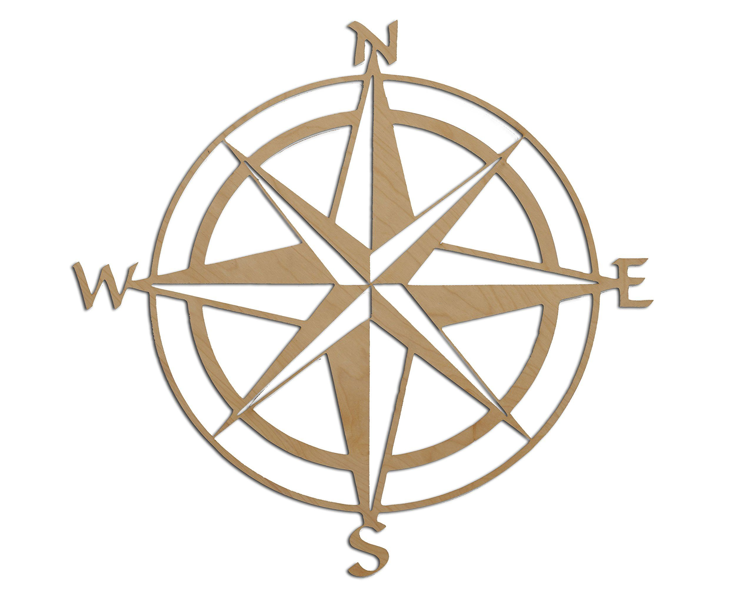 Nautical Themed Map Compass Rose 24