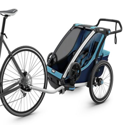 Thule Chariot 2 Collapsible Stroller In Blue Thule Chariot Thule Bike Child Bike Trailer