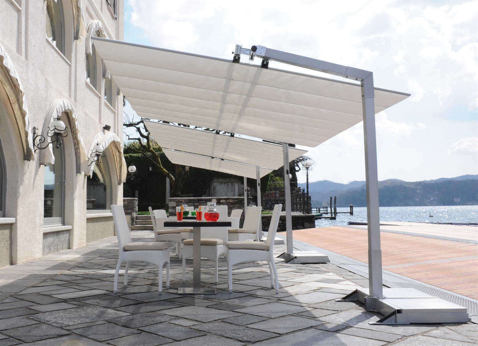 Fim Flexy Aluminum 8 X 12 Rectangular Offset Umbrella Modern