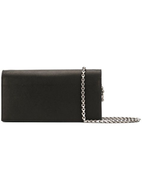 RICK OWENS chain clutch bag. #rickowens #bags #shoulder bags #clutch #leather #hand bags #