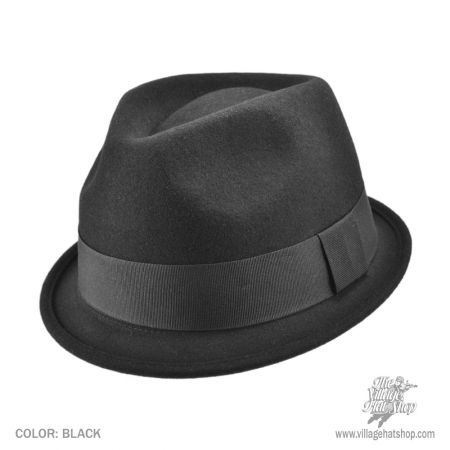 Dekker Crushable Wool Felt Trilby Fedora Hat in 2019  2a3e672b010