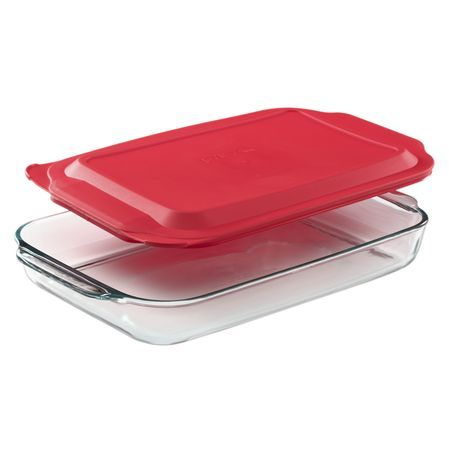Pyrex 4 Qt 15 X 10 Oblong Baking Dish W Red Plastic Lid World Kitchen Baked Dishes Pyrex Glass Bakeware Bakeware Set