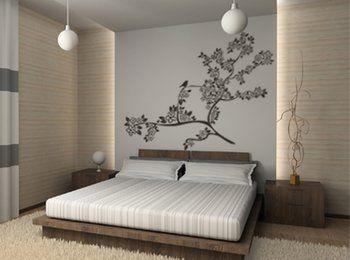 Pareti camera da letto moderna adesivi in vinile home sweet home pinterest master room and - Quadri camera da letto moderna ...