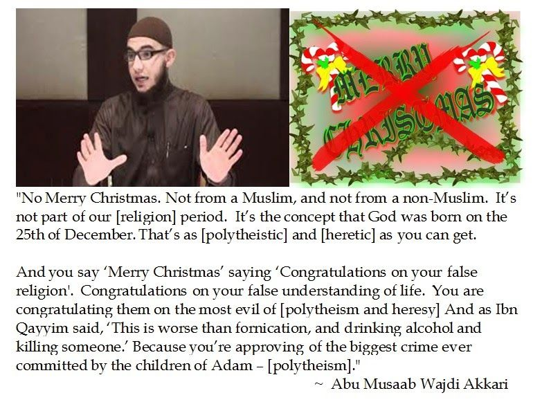 Laus Deo Abu Musaab Wajdi Akkari On Saying Merry Christmas Merry Merry Christmas Sayings