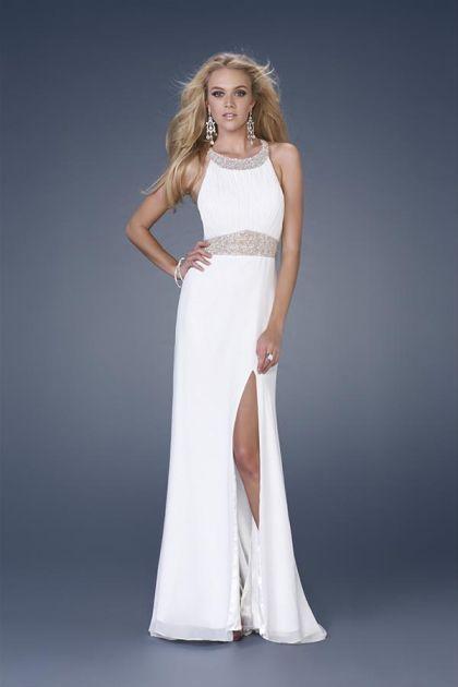 Vestidos blancos para fiesta de noche