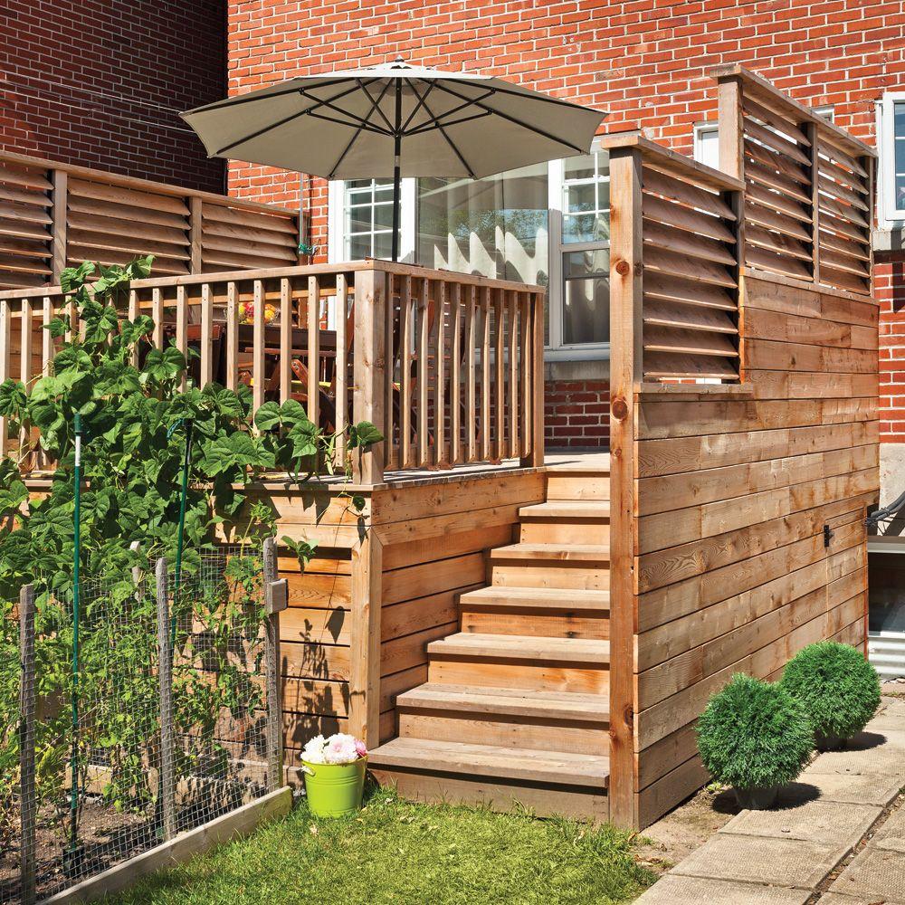 un palier bien protégé | palier, patios et jardinage