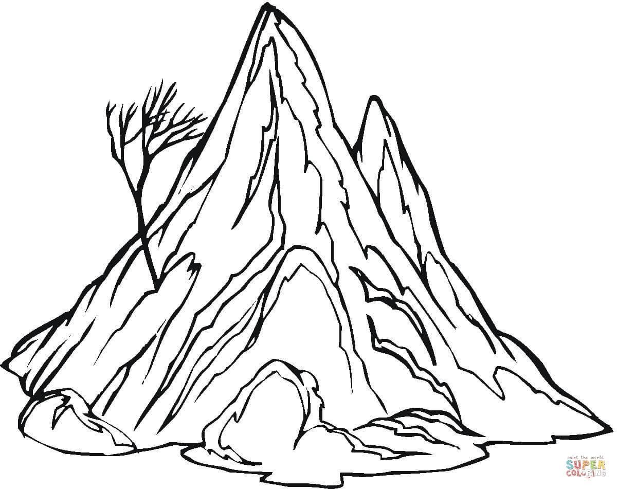 16 Coloring Page Mountain Coloring Pages Free Coloring Pages Tree Coloring Page