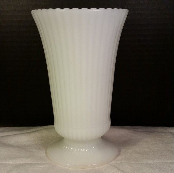 E O Brody Co Large Milk Glass Ribbed By Shellysselectsalvage Milk
