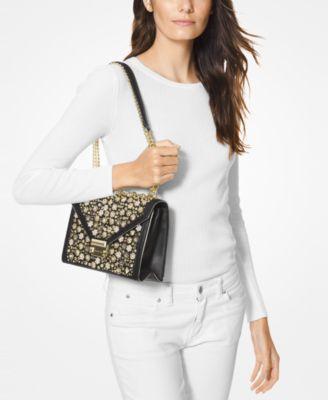 fd4adcc5edd8 Michael Michael Kors Floral Studded Limited Edition Whitney Shoulder Bag -  Black