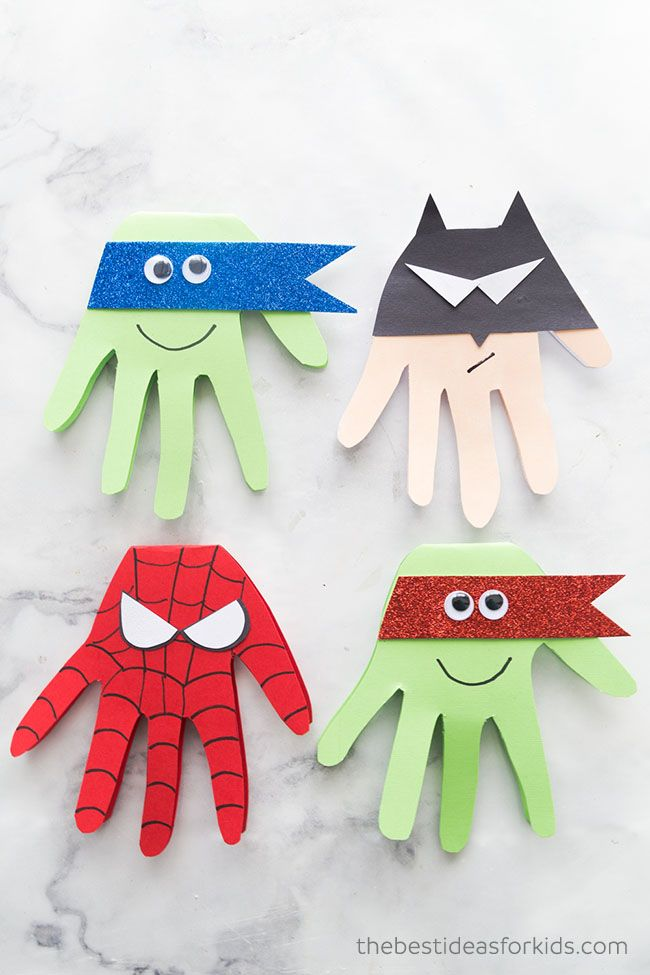 Superhero Craft – Superhero Handprints