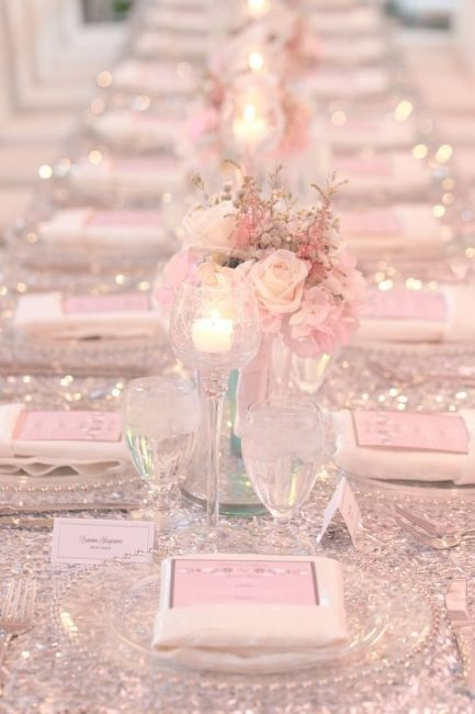 Cfb 320847 Jpg Table Mariage Rose Poudre Table Mariage Rose