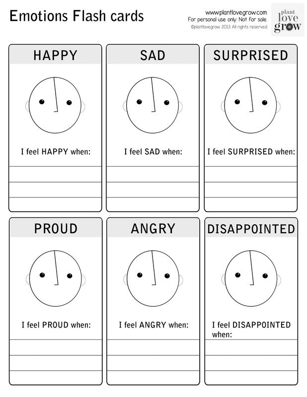 Emotions Flashcards 1 | Social Skills-Understanding Emotions ...