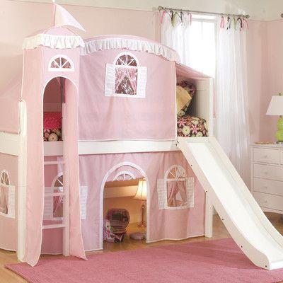 Harriet Bee Bonneau Twin Low Loft Wood Frame Bed Configuration Low