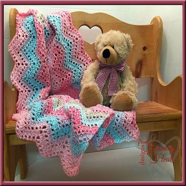 Ravelry: Angel Ripple Baby \'ghan pattern by Deborah Ziegler ...