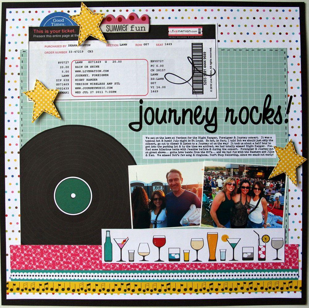 Journey scrapbook ideas - Journey Rocks Scrapbook Com