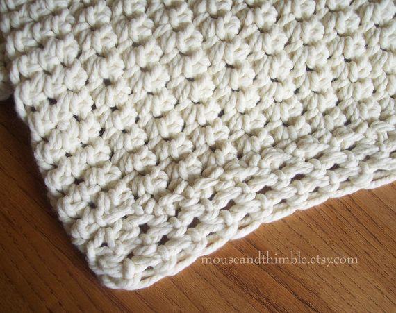 Chunky Afghan Sofa Throw Easy Beginner Crochet PATTERN 48\