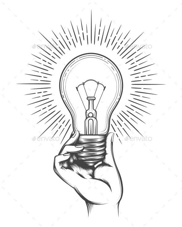 Hand Holding Light Bulb Sketch Hand Holding Light Bulb Business