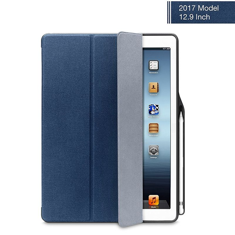 Ipad Pro 9.7 Case With Pencil Holder Entrancing For Ipad Pro 129 Case Leather Ultra Slim Flip Folio Smart Cover Inspiration Design