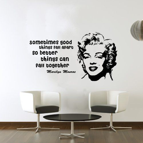 Marilyn Monroe Sometimes Good Things Quote Wall Art