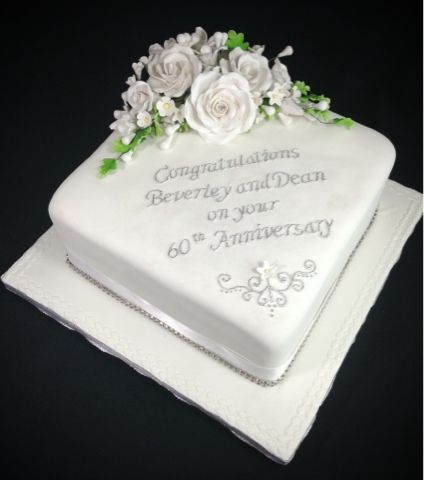 60th anniversary cakes on pinterest wedding anniversary cakes simple anniversary cakes and - Th anniversary cake decorations ...