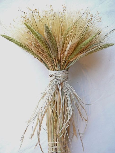I Love This But Would Like To Add Some Lavender To It And Some Purple Twine Wheat Centerpieces Wheat Decorations Wheat Bundle