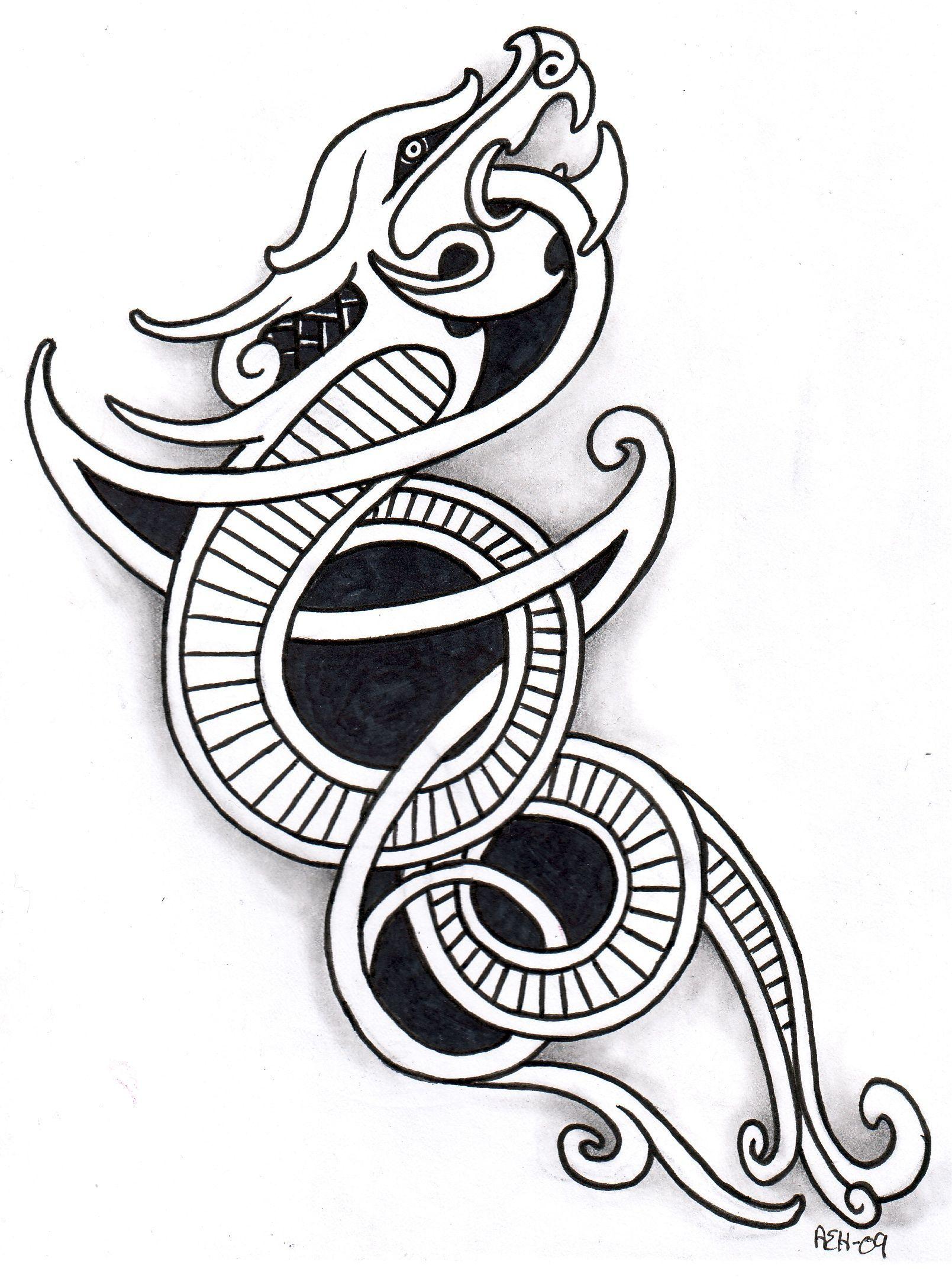 Viking Dragon Tattoo Viking Dragon Tattoo Viking Tattoos Celtic Dragon Tattoos