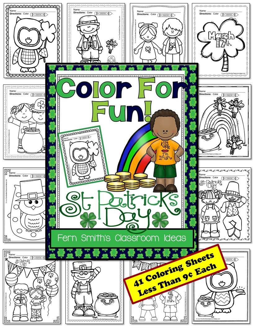 St Patrick S Day Coloring Pages 41 Pages Of St Patrick S Day Coloring Fun Coloring Pages Coloring Book Pages Printable Coloring Pages