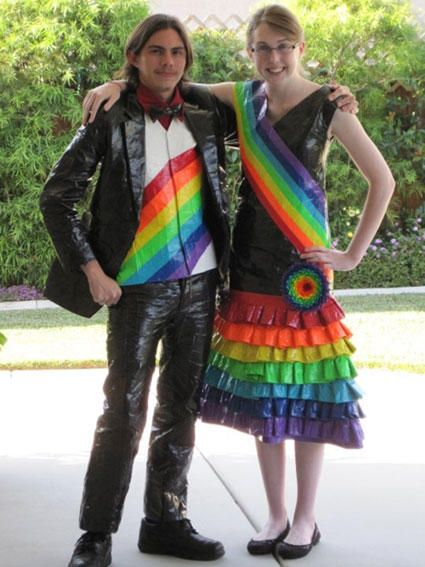 Prom Dress & Tux Made Out Of Duct Tape @smosh | Stuck at Prom ...