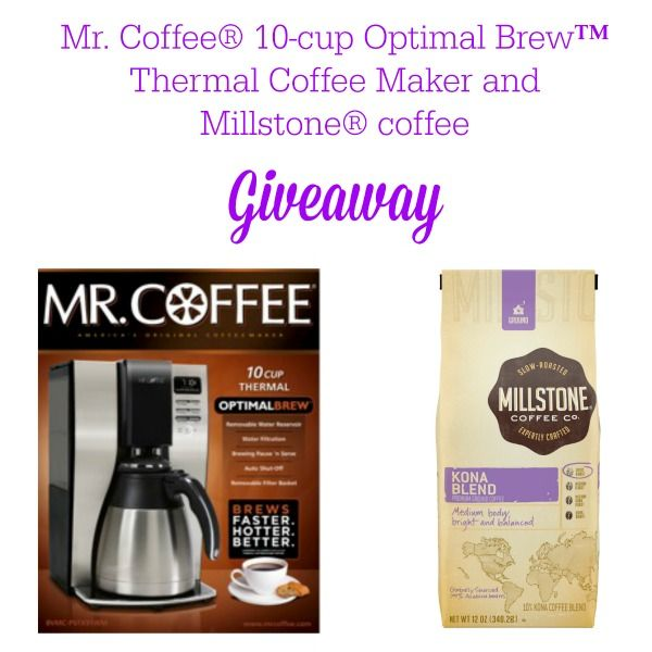 Mr. Coffee® 10-cup Optimal Brew™ Thermal Coffee Maker and Millstone® Coffee Giveaway #shop #coffeejourneys
