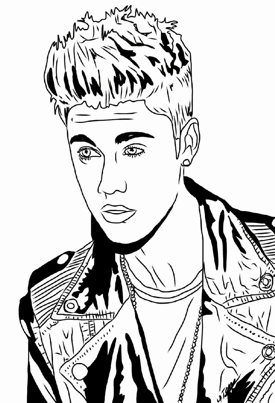 Justin Bieber Coloring Pages Printable Free Lovely Justin Bieber Coloring Pages In 2020 Justin Bieber Sketch Justin Bieber Pictures Justin Bieber