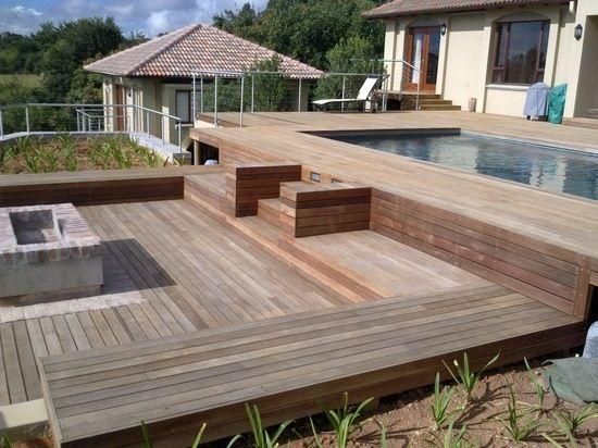 verschiedene niveaus ideen terrasse aus bangkirai holz. Black Bedroom Furniture Sets. Home Design Ideas