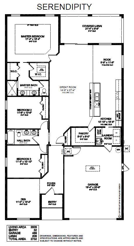 The Serendipity By Highland Homes Provides 2 005 Sq Ft Of Open Concept Living Space With 3 Bedrooms Plus A Kitchen Layout Dream Closet Design Great Room Layout