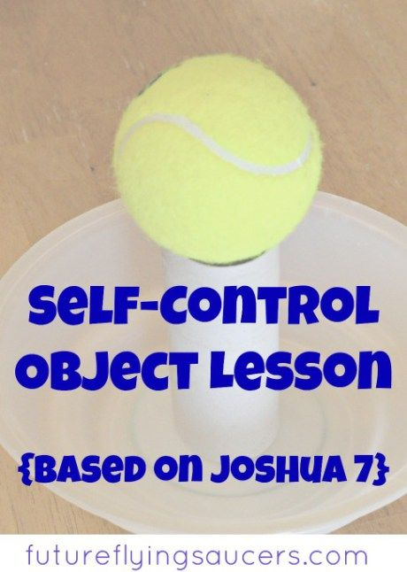 Self-Control Object Lesson {Joshua 7} | worship and praise ...