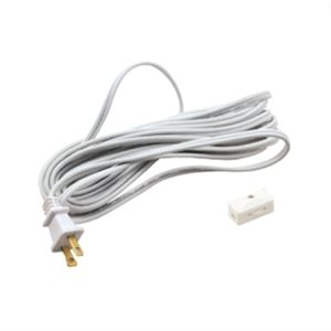 2-Prong line cord with plug and switch.    Available in fixed 15' length- (LCS2-15) in Black or White color.  Regular price: $16.99  Sale price: $12.50